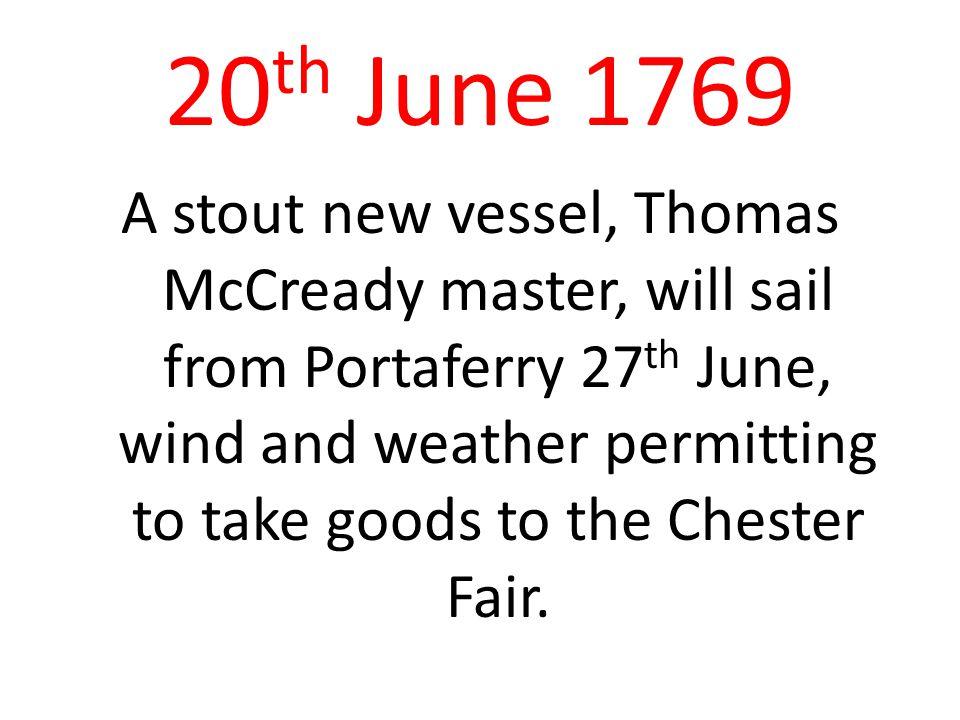 20th June 1769