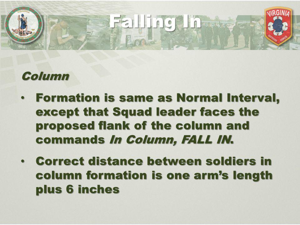 Falling In Column.