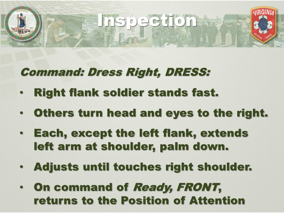 Inspection Command: Dress Right, DRESS: