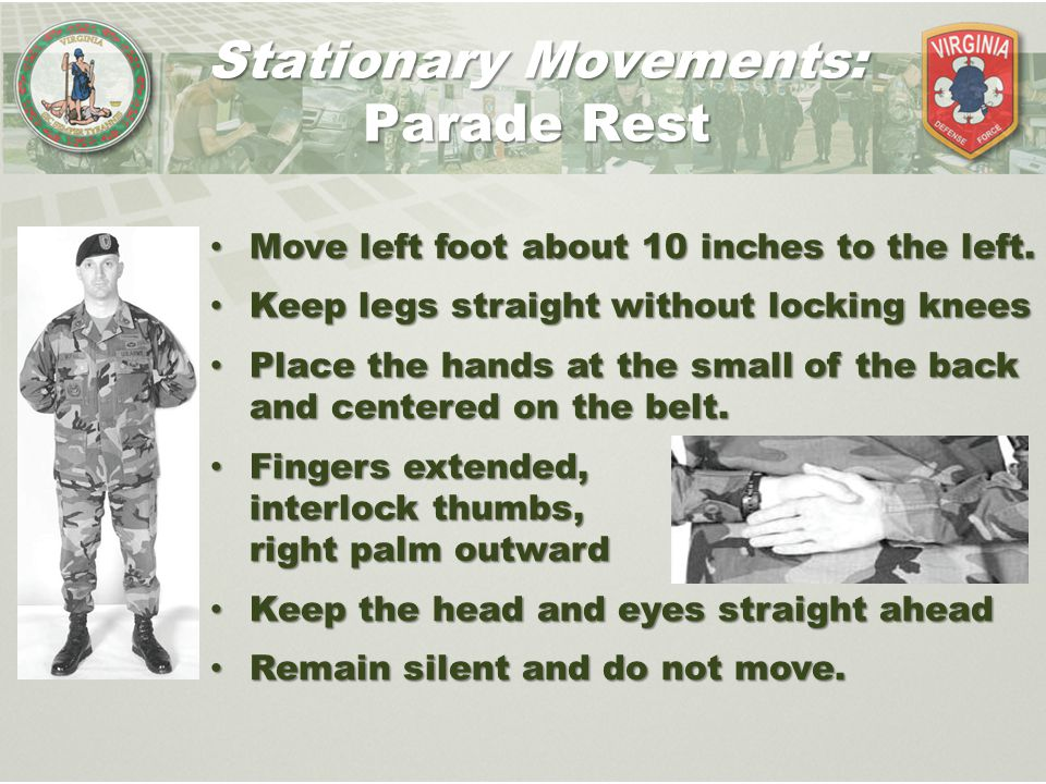 Stationary Movements: Parade Rest