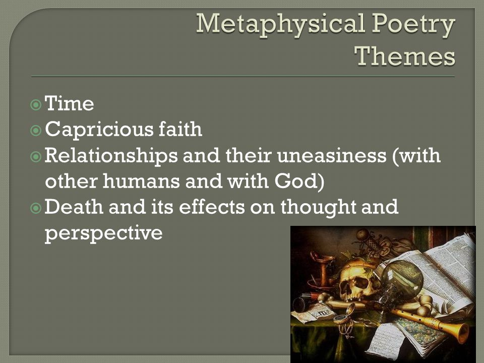 Metaphysical Poetry Themes