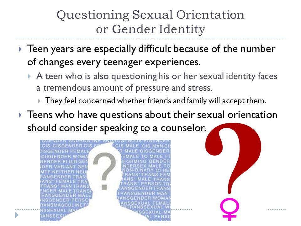 Questioning Sexual Orientation or Gender Identity