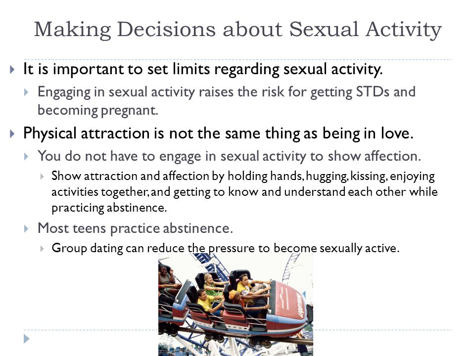 Making Decisions about Sexual Activity
