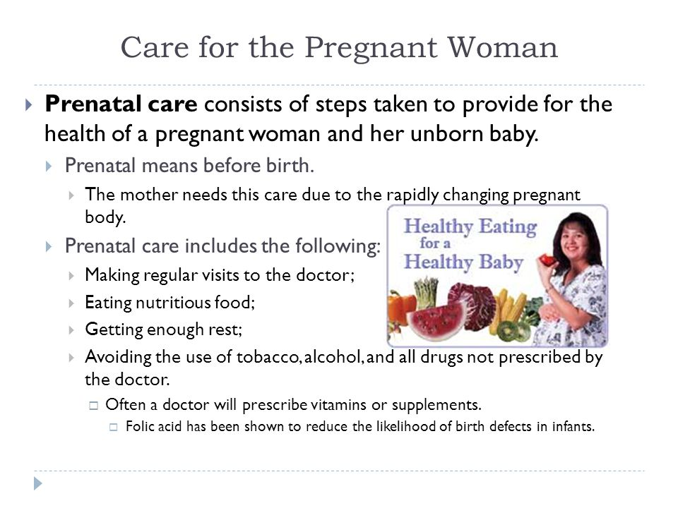 Care for the Pregnant Woman