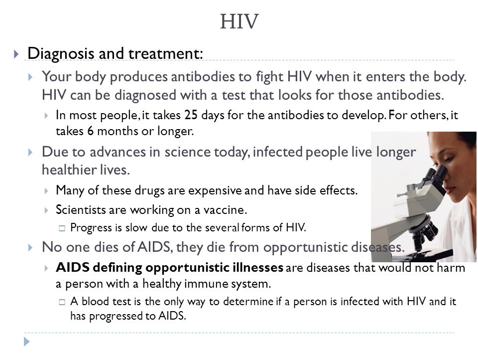HIV Diagnosis and treatment: