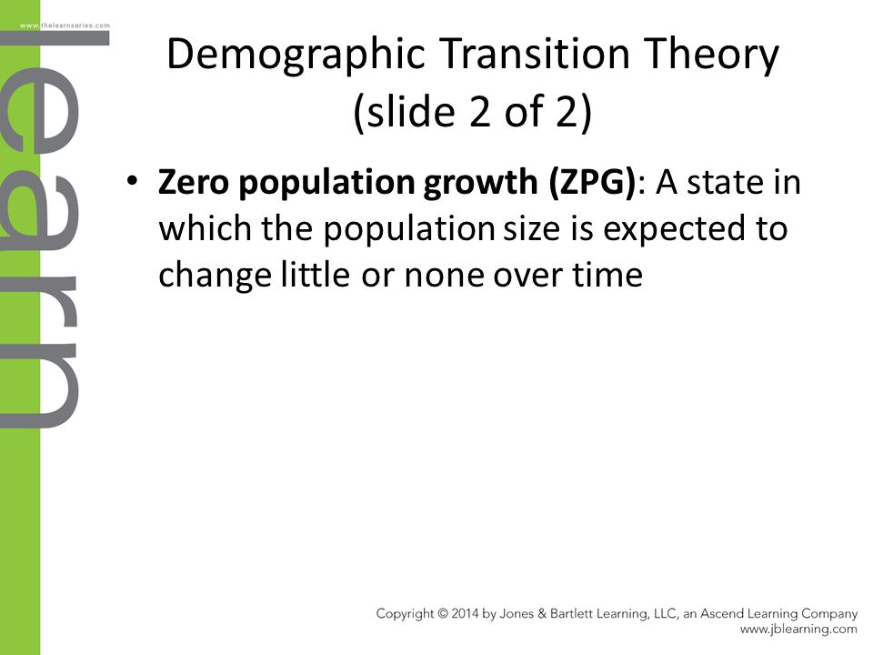 Demographic Transition Theory (slide 2 of 2)