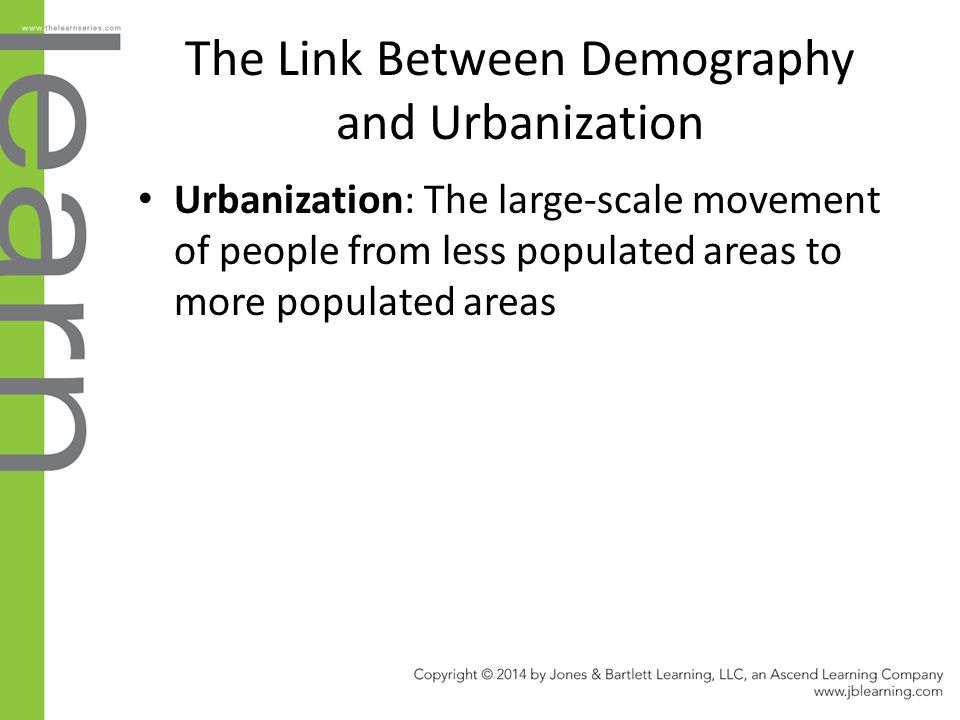 The Link Between Demography and Urbanization