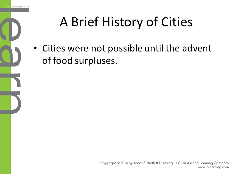 A Brief History of Cities