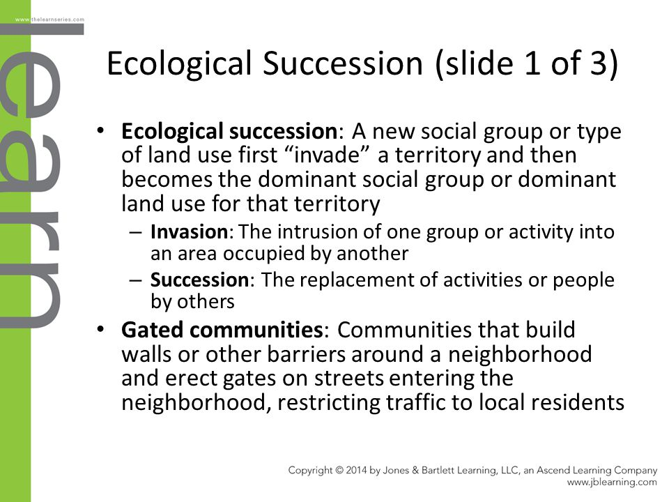 Ecological Succession (slide 1 of 3)