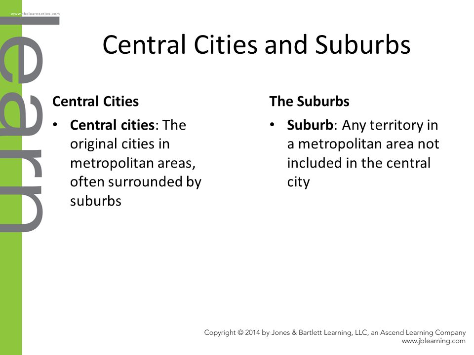 Central Cities and Suburbs