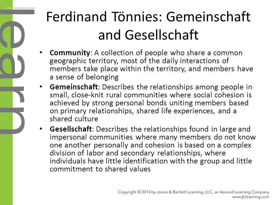 Ferdinand Tönnies: Gemeinschaft and Gesellschaft