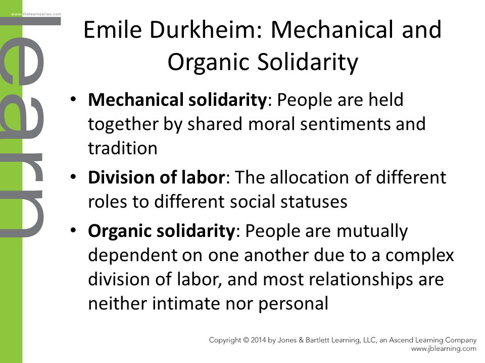 Emile Durkheim: Mechanical and Organic Solidarity