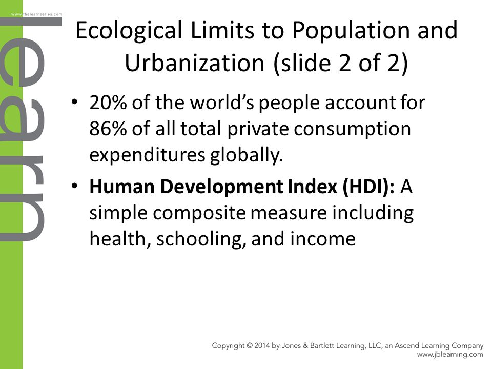 Ecological Limits to Population and Urbanization (slide 2 of 2)