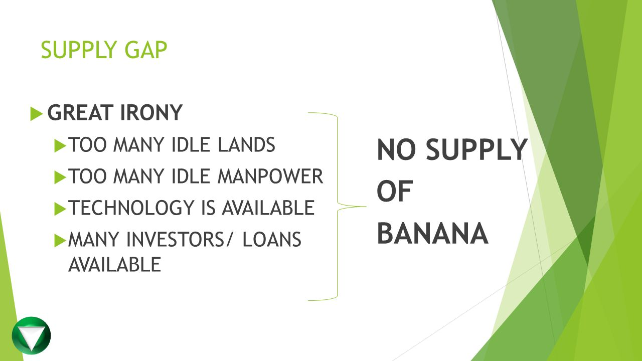 NO SUPPLY OF BANANA SUPPLY GAP GREAT IRONY TOO MANY IDLE LANDS