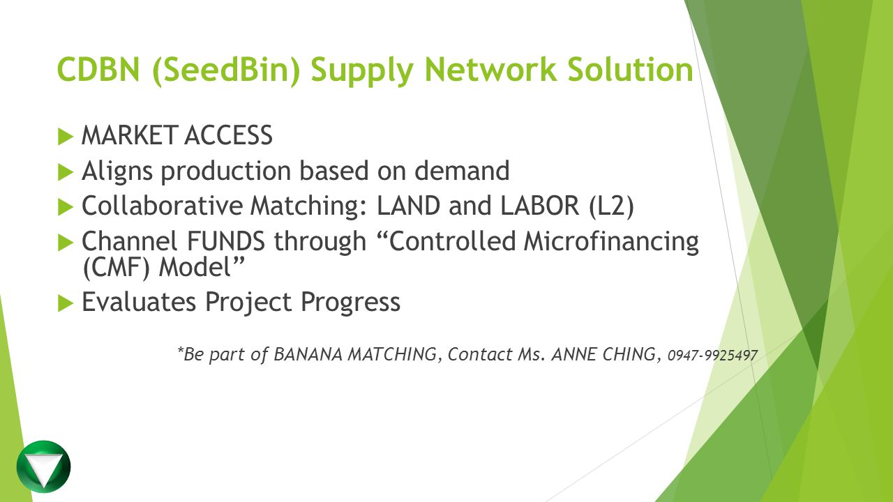 CDBN (SeedBin) Supply Network Solution