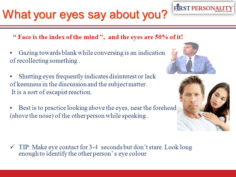 What your eyes say about you