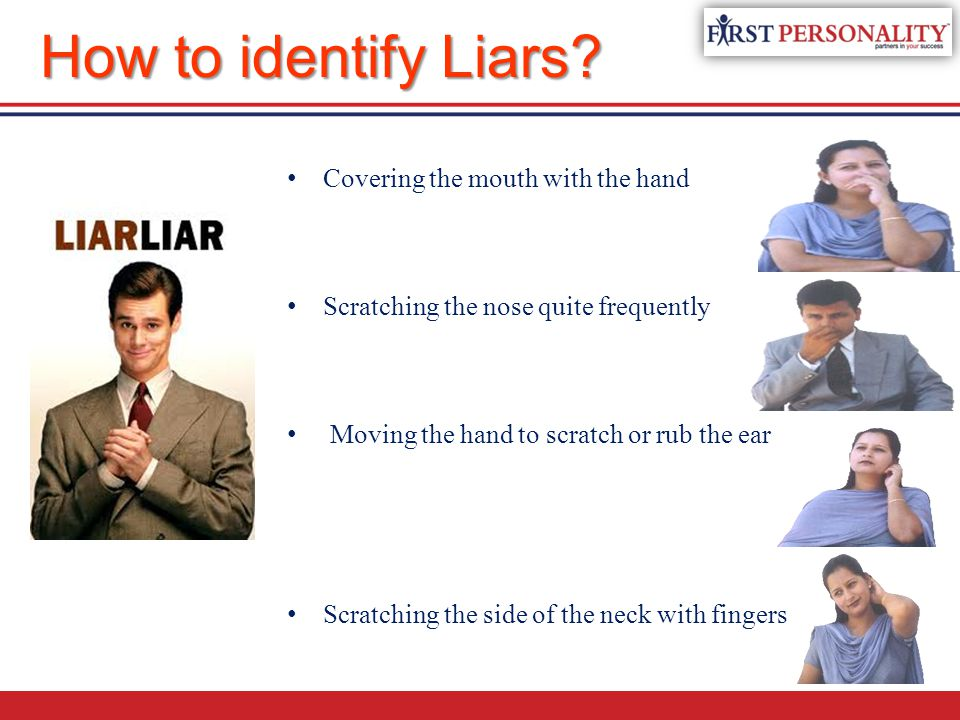How to identify Liars Covering the mouth with the hand