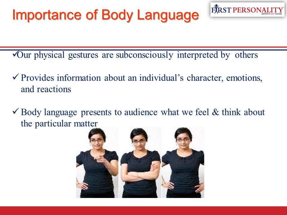 role of body language The importance of body language during a job interview what you say during a job interview is obviously important, and most candidates spend a lot of time preparing good answers for common interview questions.