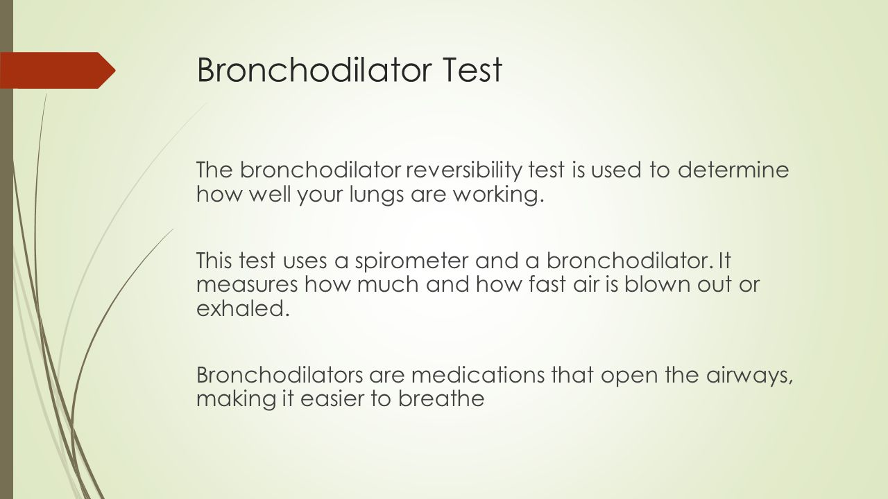 Bronchodilator Test