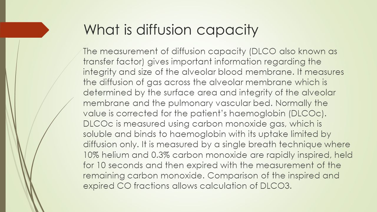 What is diffusion capacity
