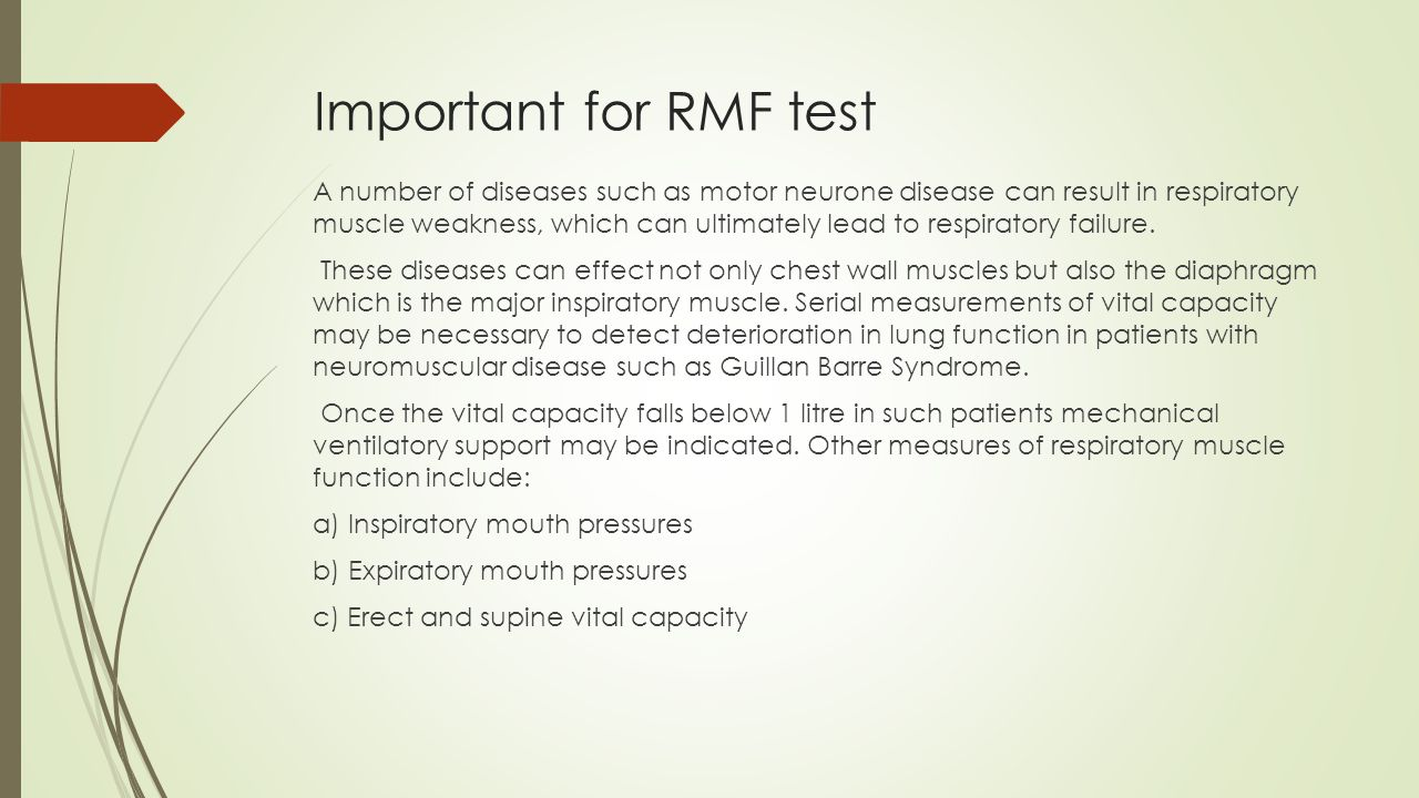 Important for RMF test