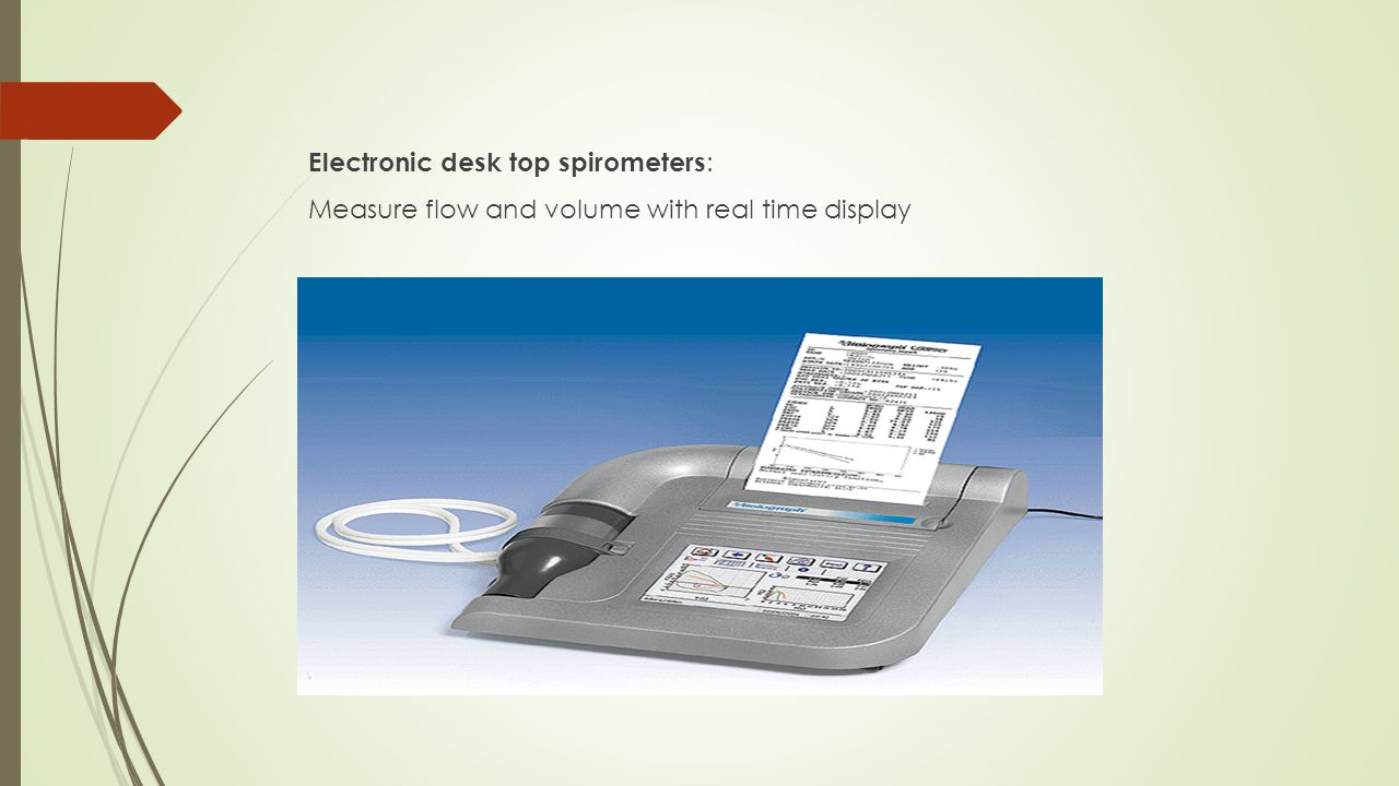 Electronic desk top spirometers: