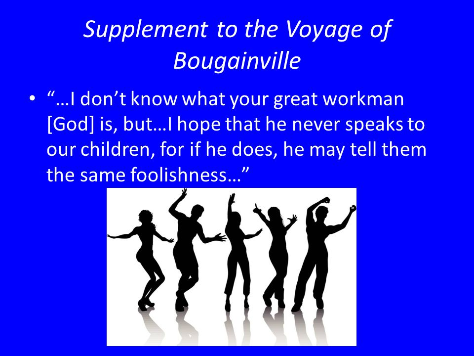 Supplement to the Voyage of Bougainville