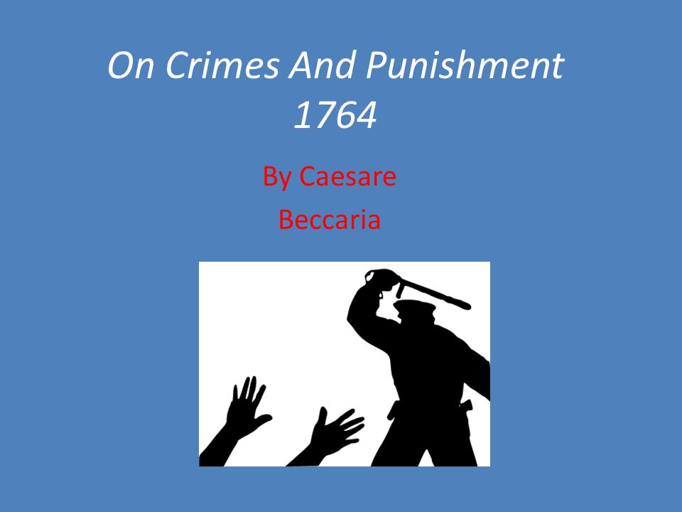 On Crimes And Punishment 1764