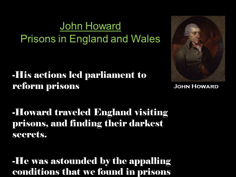 John Howard Prisons in England and Wales