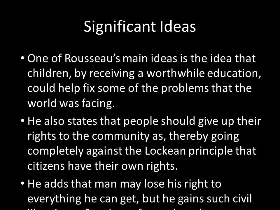 Significant Ideas