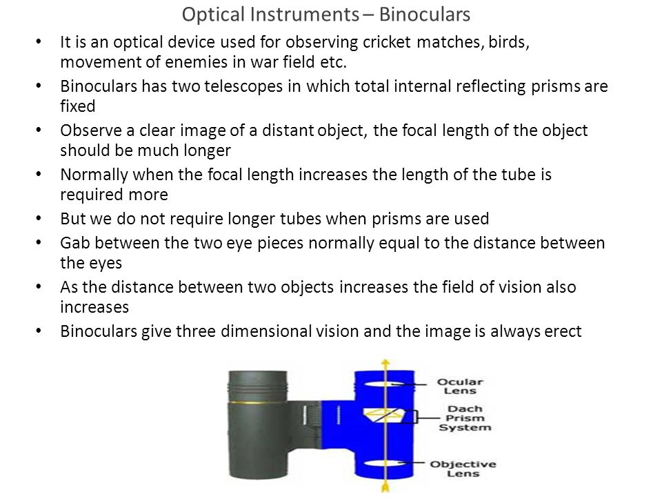 Optical Instruments – Binoculars