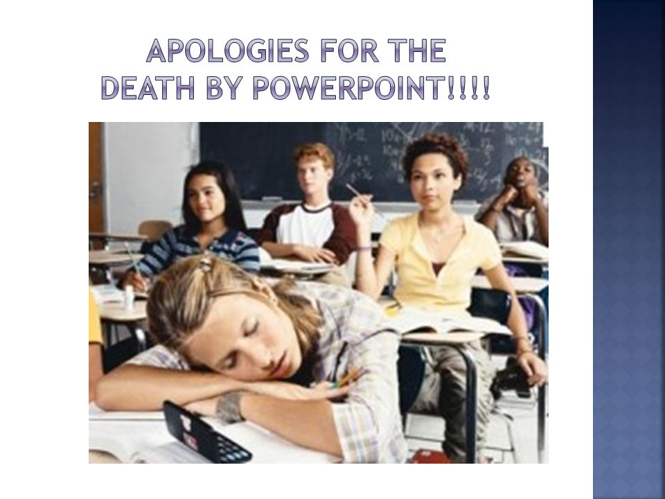 APOLOGIES FOR THE Death by powerpoint!!!!