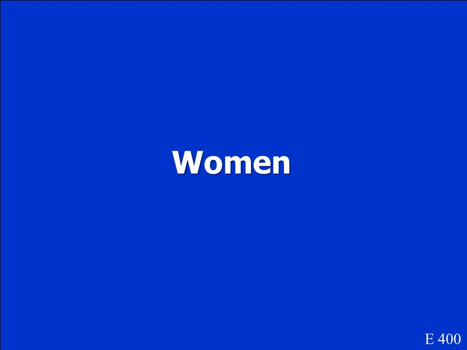 Women E 400