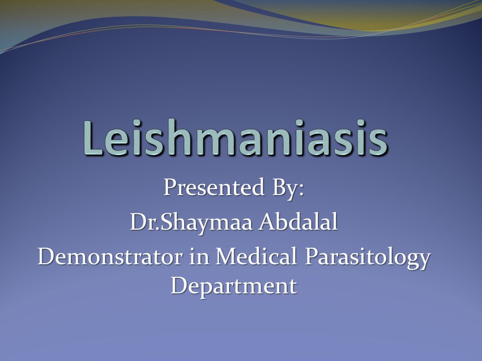 Demonstrator in Medical Parasitology Department