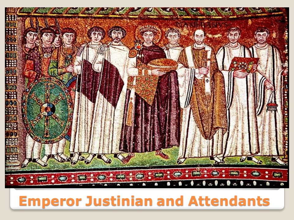 Emperor Justinian and Attendants