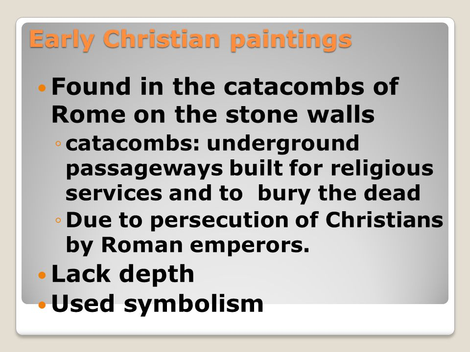 Early Christian paintings