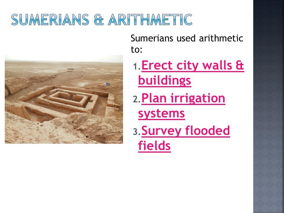 Sumerians & arithmetic
