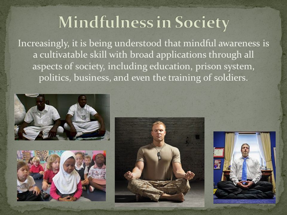 Mindfulness in Society