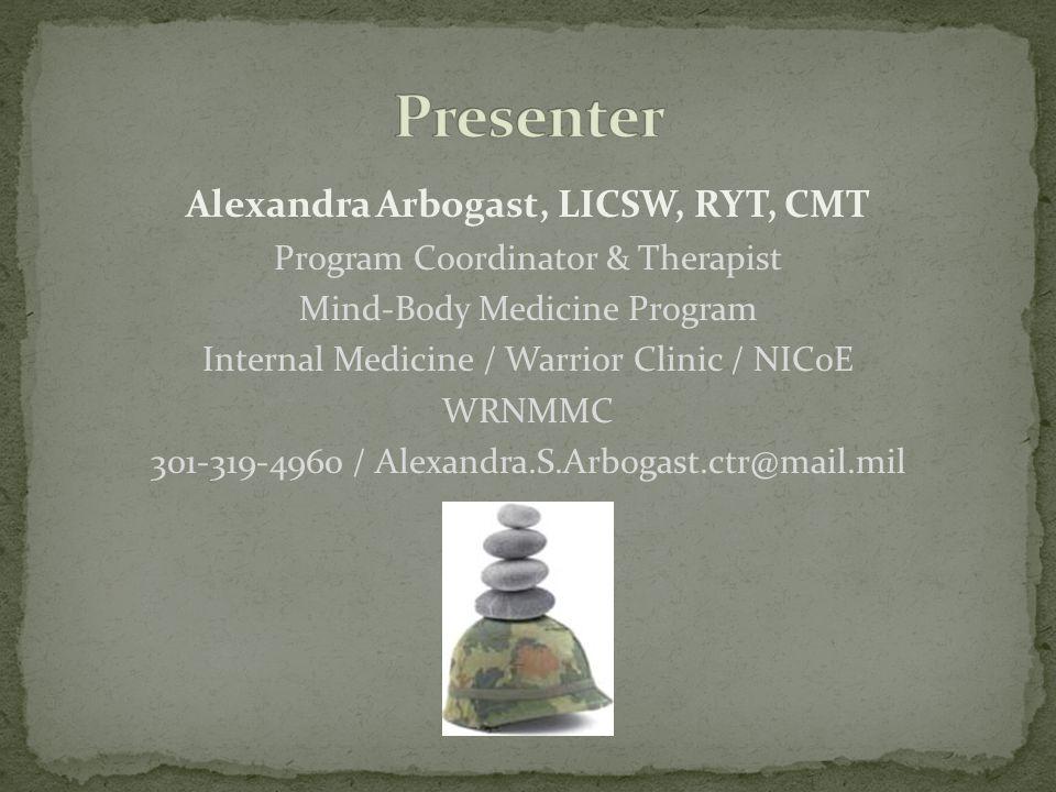 Alexandra Arbogast, LICSW, RYT, CMT