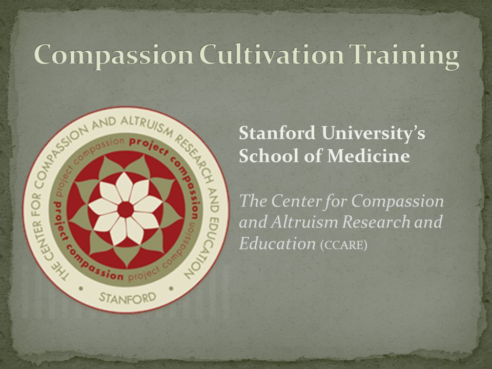 Compassion Cultivation Training