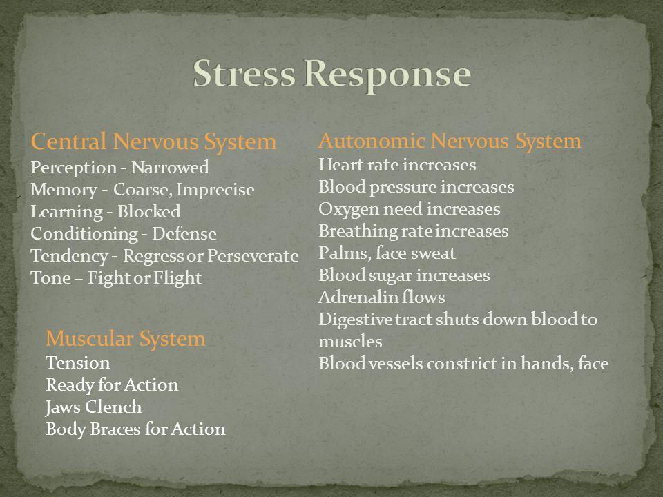 Stress Response Central Nervous System Autonomic Nervous System