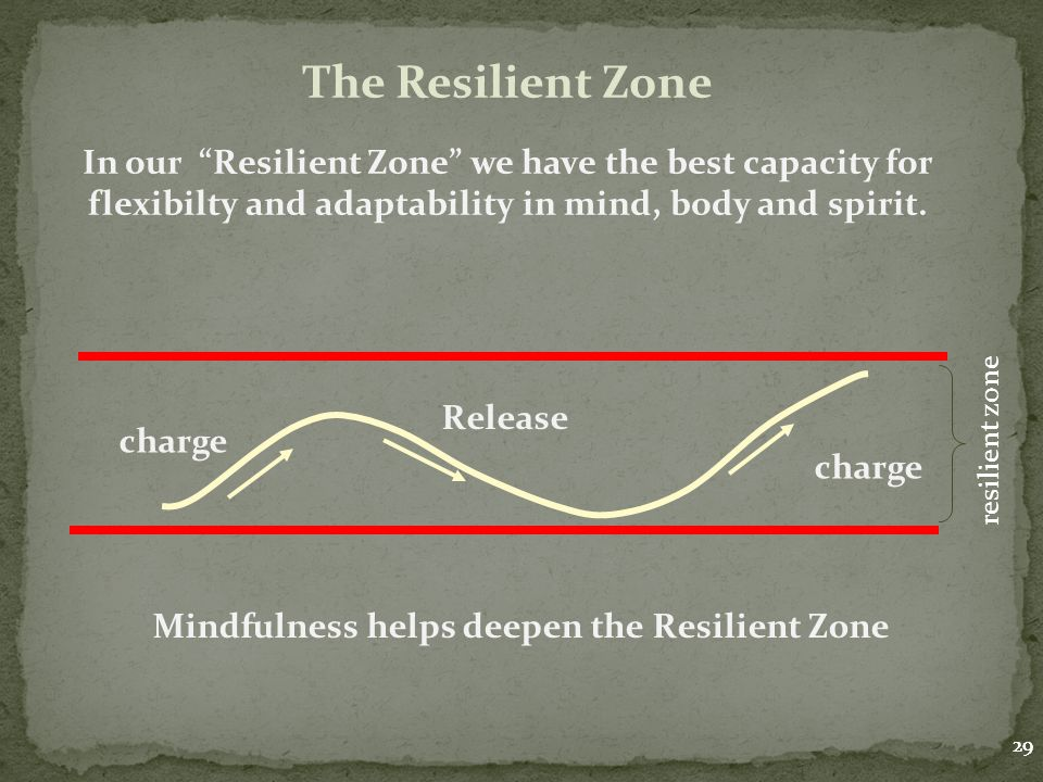 Mindfulness helps deepen the Resilient Zone