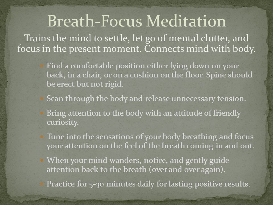 Breath-Focus Meditation