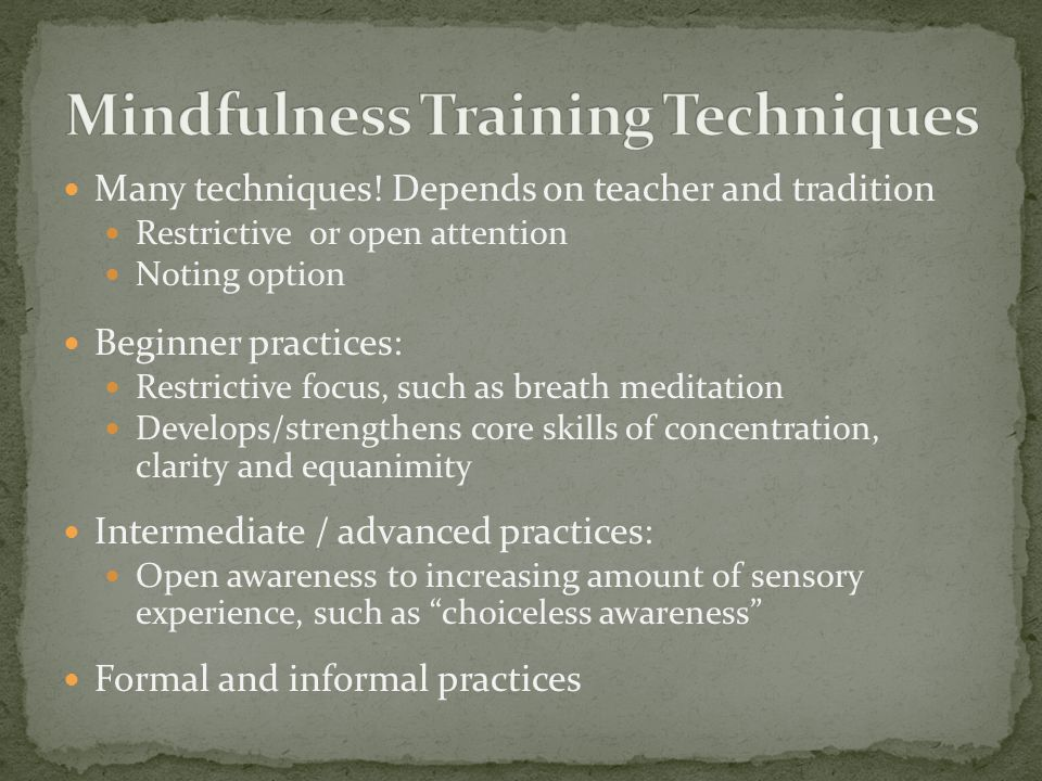 Mindfulness Training Techniques