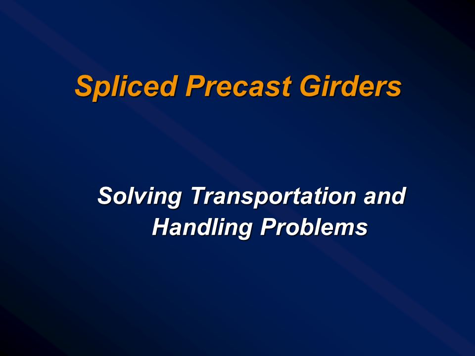 Spliced Precast Girders