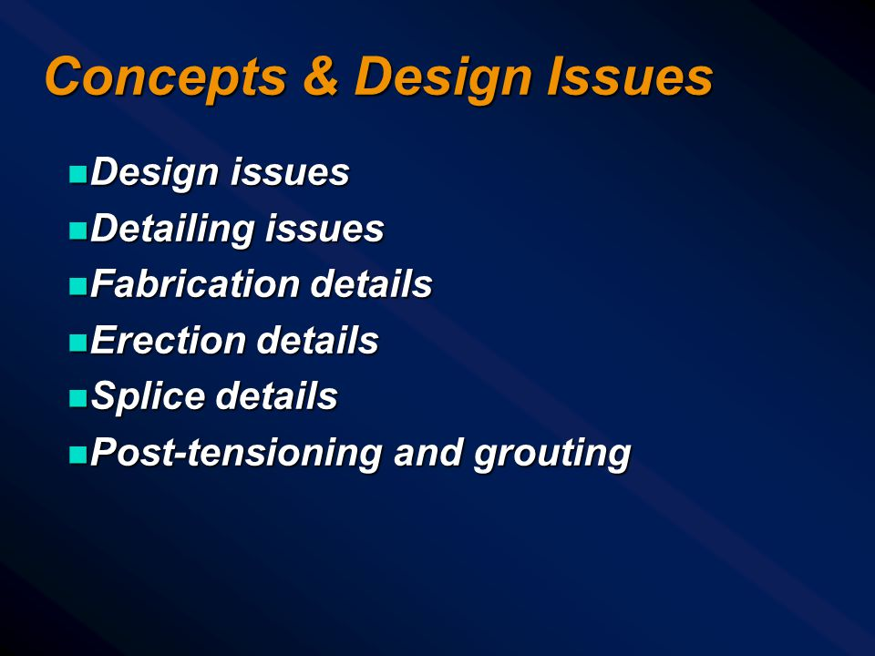 Concepts & Design Issues