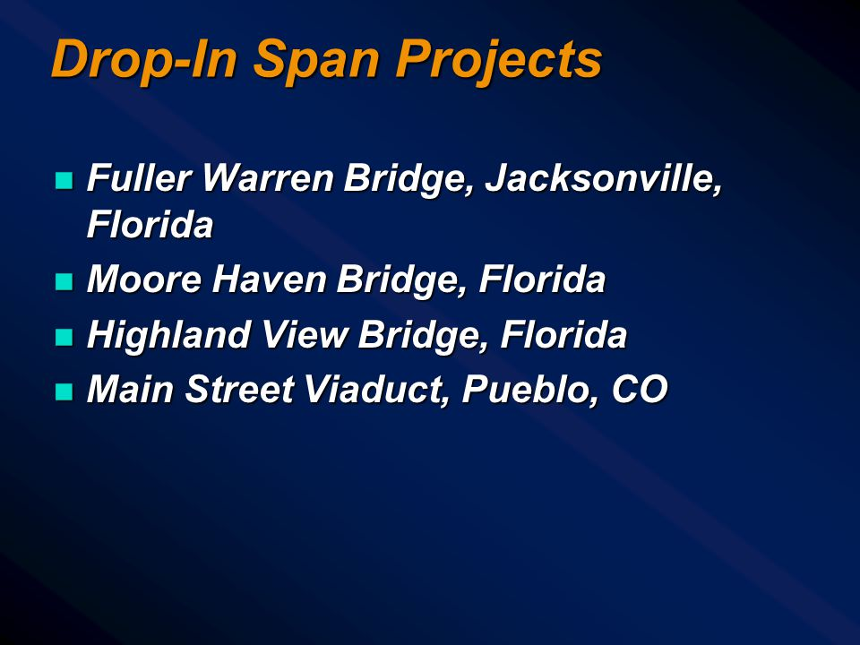 Drop-In Span Projects Fuller Warren Bridge, Jacksonville, Florida