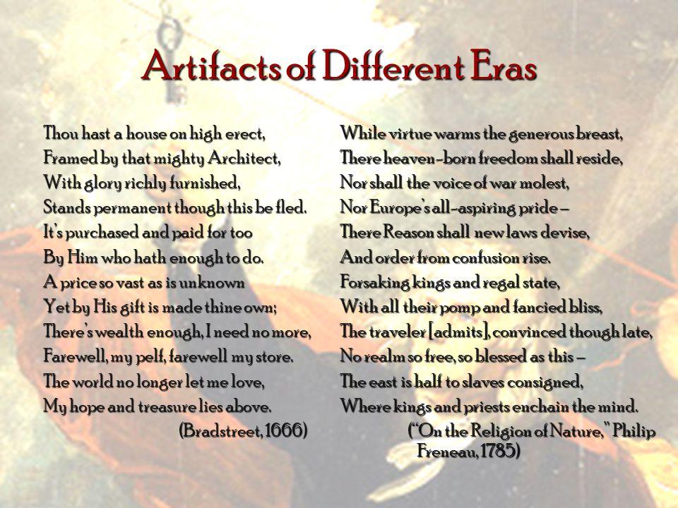 Artifacts of Different Eras