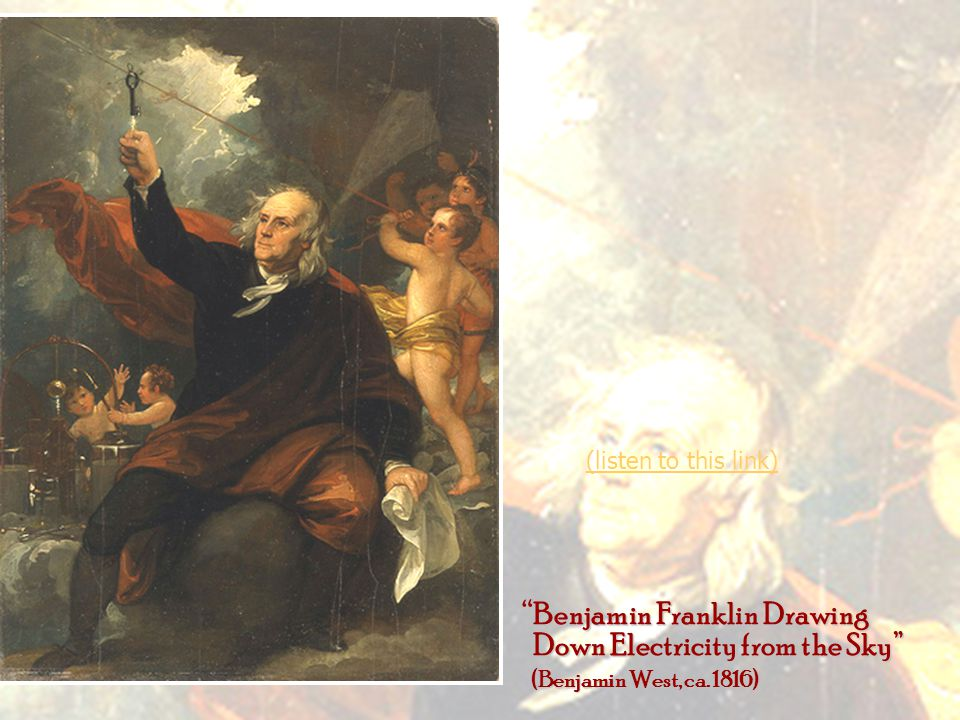 Benjamin Franklin Drawing Down Electricity from the Sky