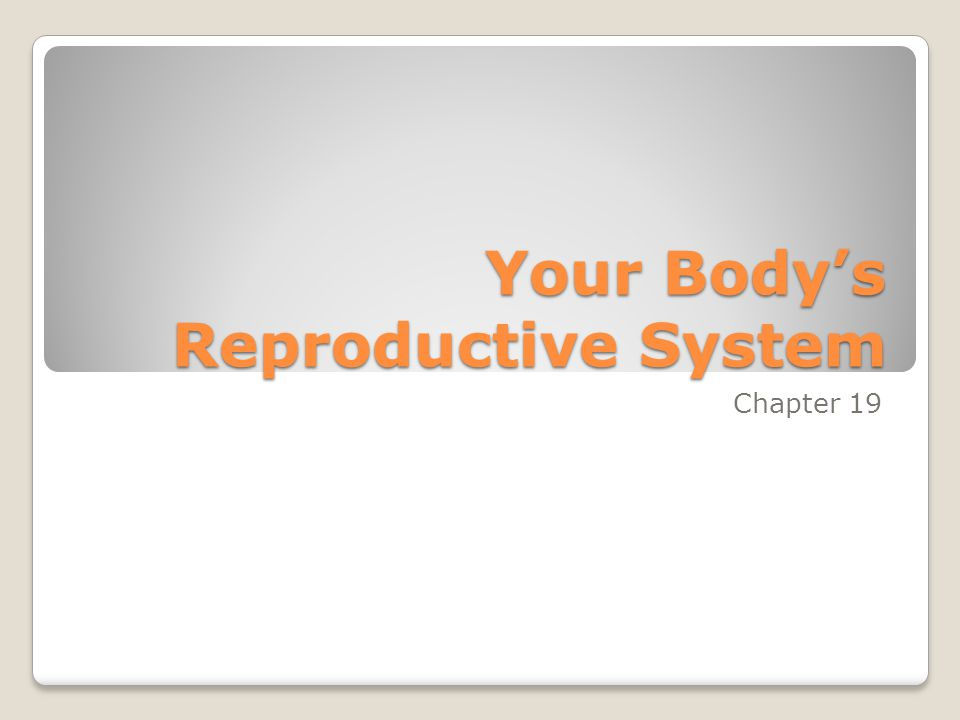 Your Body's Reproductive System